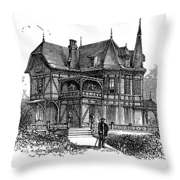 Newport Cottage Throw Pillow by Granger