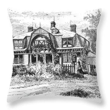 Newport: Villa, C1876 Throw Pillow by Granger