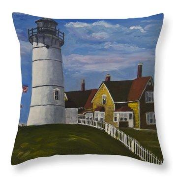 Nobska Light Throw Pillow by Roger Wedegis