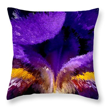 Not Your Average Iris Throw Pillow by Paul W Faust -  Impressions of Light