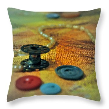 Notions Throw Pillow by Gwyn Newcombe