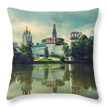 Novodevichy Convent. Moscow Russia Throw Pillow by Juli Scalzi