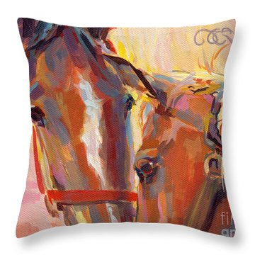 Nuzzling Hope Throw Pillow by Kimberly Santini