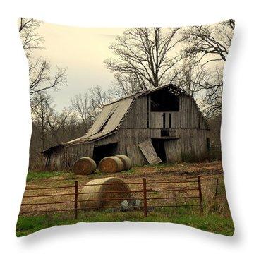 Oak Barn Throw Pillow by Marty Koch