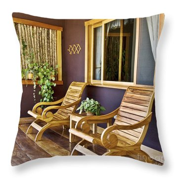 Oasis Of Calm Throw Pillow by Heiko Koehrer-Wagner