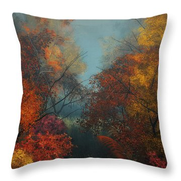 October Throw Pillow by Jutta Maria Pusl