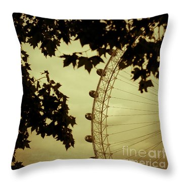 October Mist Throw Pillow by Jan Bickerton