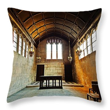 Of Stone And Wood Throw Pillow by CJ Schmit