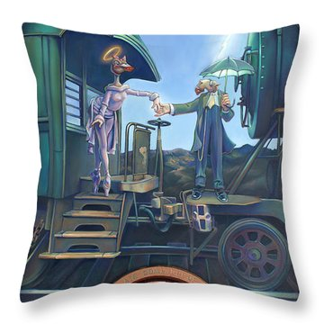 Of Thee I Sing The Body Electric Throw Pillow by Patrick Anthony Pierson