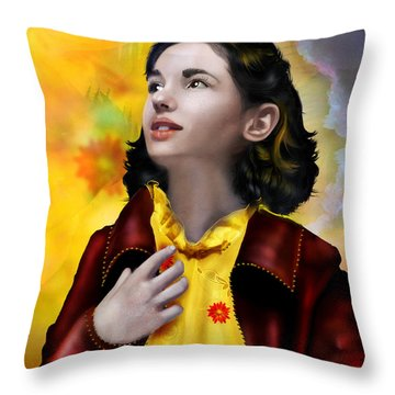 Ofelia's Dream Throw Pillow by Mary Hood