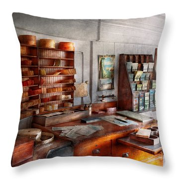 Office - The Purser's Room Throw Pillow by Mike Savad