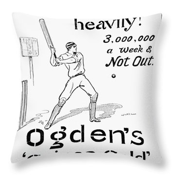 Ogdens Cigarettes, 1897 Throw Pillow by Granger