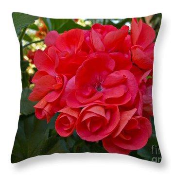 Oh My Red Throw Pillow by Arlene Carmel