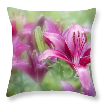 Oh So Pink Throw Pillow by Toni Hopper