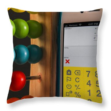 Old & New Ways Of Math Throw Pillow by Photo Researchers, Inc.