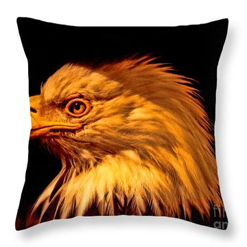 Old Abe Throw Pillow by Tommy Anderson