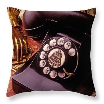 Old Bell Telephone Throw Pillow by Garry Gay