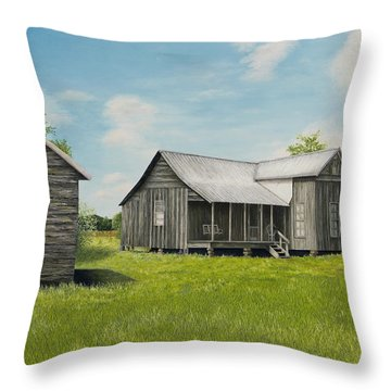 Old Clark Home Throw Pillow by Mary Ann King