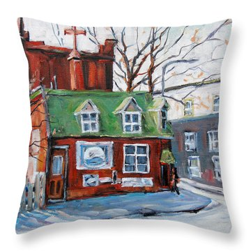 Old Corner Store Montreal By Prankearts Throw Pillow by Richard T Pranke
