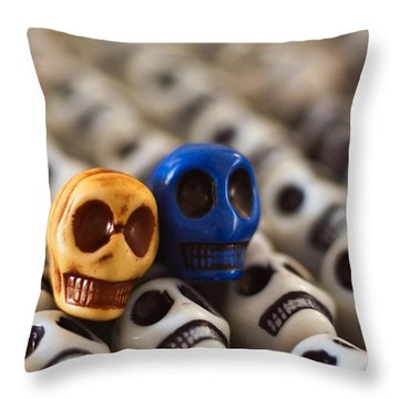 Old Gold And Blue Throw Pillow by Mike Herdering