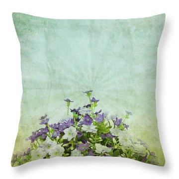 Old Grunge Paper Flowers Pattern Throw Pillow by Setsiri Silapasuwanchai