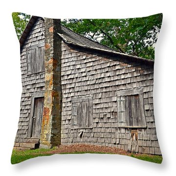 Old Home In Forest Throw Pillow by Susan Leggett