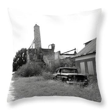 Old In Texas Throw Pillow by Nina Fosdick