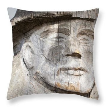 Old Man Of The Sea Throw Pillow by Chris Dutton