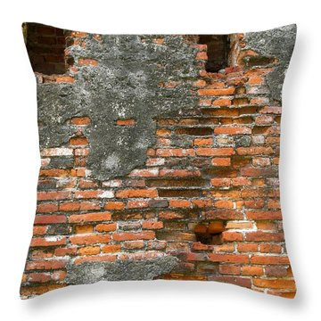 Old Ruins Throw Pillow by Yali Shi