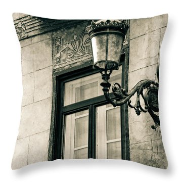 Old Window Lamp Throw Pillow by Syed Aqueel