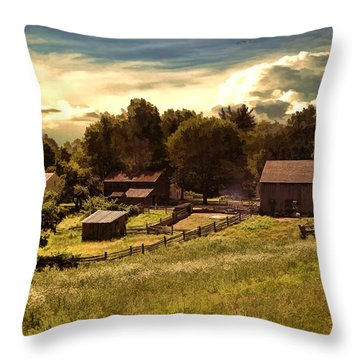 Olden Times Throw Pillow by Lourry Legarde