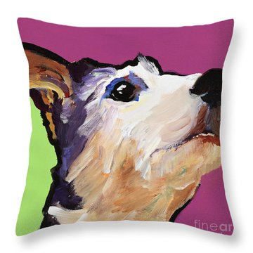 Ollie Throw Pillow by Pat Saunders-White