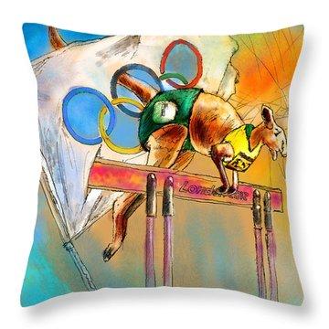 Olyver Throw Pillow by Miki De Goodaboom