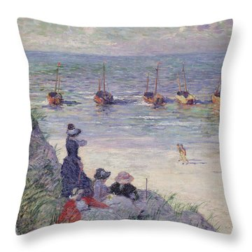 On The Dunes Throw Pillow by Theo van Rysselberghe