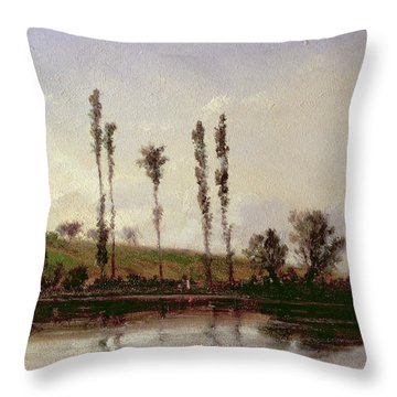 On The Outskirts Of Paris Throw Pillow by Camille Pissarro