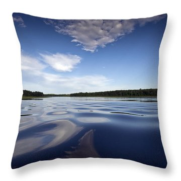 On The Water Throw Pillow by Gary Eason