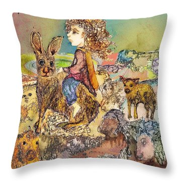 Once I Knew My Name  Throw Pillow by Cynthia  Richards