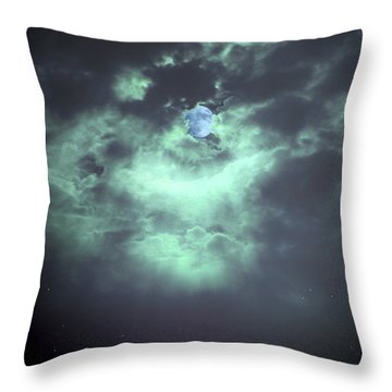 Once In A Blue Moon Throw Pillow by Nina Fosdick