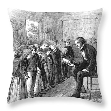 One-room Schoolhouse, 1874 Throw Pillow by Granger