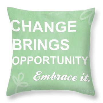 Opportunity Throw Pillow by Linda Woods