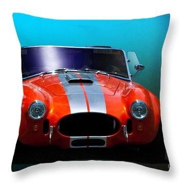 Orange Cobra Throw Pillow by Stuart Row