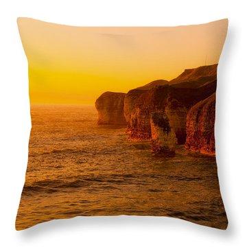 Orange Dusk Throw Pillow by Svetlana Sewell