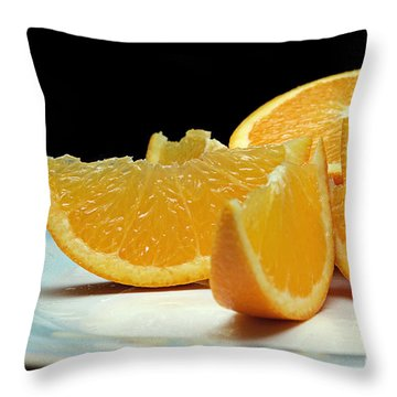 Orange Slices Throw Pillow by Andee Design