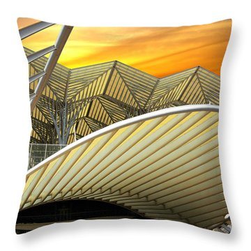 Oriente Station Throw Pillow by Carlos Caetano