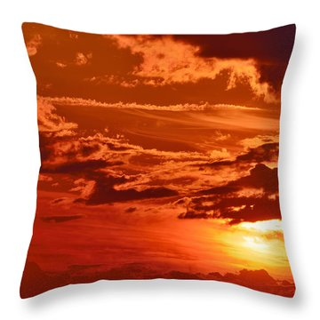 Out My Door Throw Pillow by Tony Beck