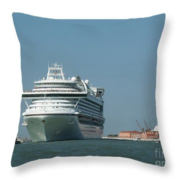 Out To Sea Throw Pillow by Evgeny Pisarev