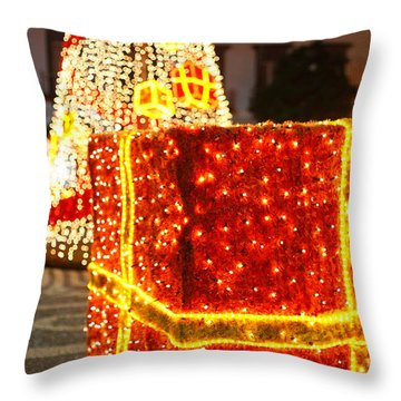Outdoor Christmas Decorations Throw Pillow by Gaspar Avila