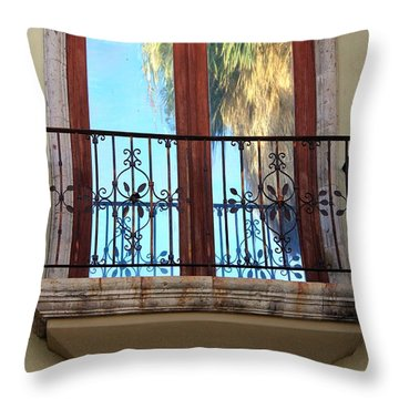 Outer Reflection Throw Pillow by Leigh Meredith