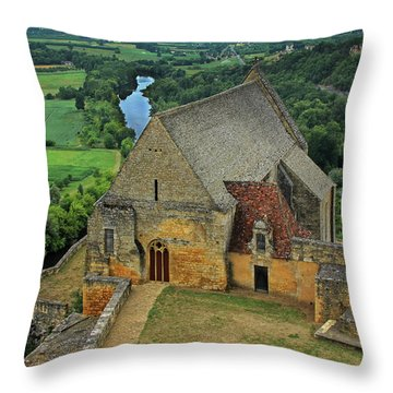 Overlooking The French Countryside Throw Pillow by Dave Mills