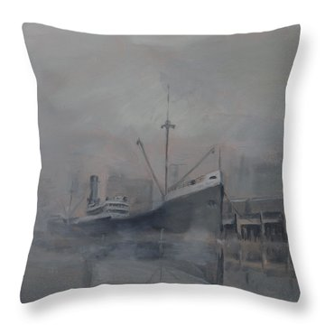 Pacific Trader Throw Pillow by Christopher Jenkins